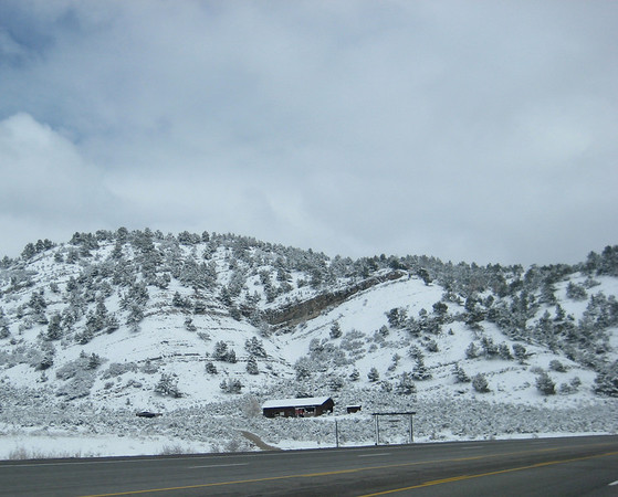Driving over the pass through more snow than I was expecting, between Salt Lake City & Price.